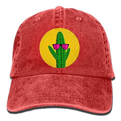 Osmykqe Kaktus-Sonnenbrille Denim-Hut einstellbar Unisex-Mini-Baseball-Mützen 03VV8872