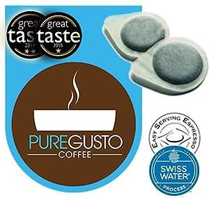 Swiss Water Decaf - ESE Coffee Pods (100) - Great Taste Award Winner 2014