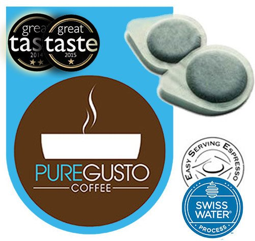 Puregusto Swiss Water Decaf Espresso Pods 51puUc8aH7L best coffee maker Best Coffee Maker 51puUc8aH7L