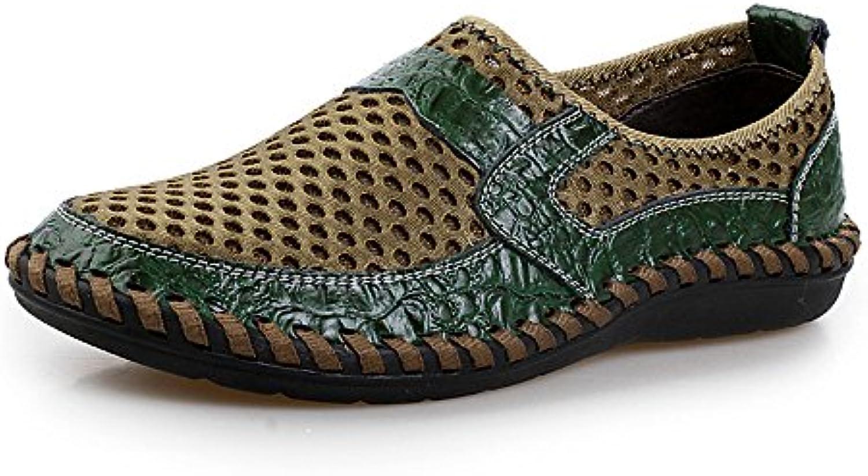 Custome Hombres Zapatos de Agua Malla Plano Suave Respirable Moda Al Aire Libre Ligero Casual Ejercicio Banco...