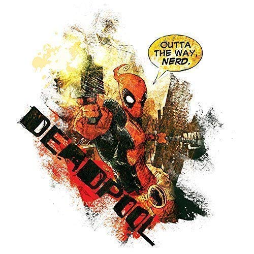 Deadpool - Nerd Bereit Gerahmte Leinwand - 40 X 40 X 3.8cm (16 X 16 X 1,5 Zoll) - mit Klammern und Rahmer Seil