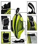 Der&Dies Fútbol Entrenamiento Bolsa de voleibol baloncesto Bolsa Bolsa de deporte bolsa de deporte bolsa de deporte en la elegante diseño con dos botellas de red bolsillos para los niños, niños y escolar infantil durante el entrenamiento y fitness, Verde
