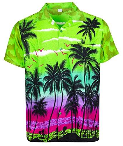 Funky camicia hawaiana, beach, verde, xl