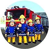 Trendversand-24 Fondant Tortenaufleger Tortenbild Geburtstag Feuerwehrmann Sam T2