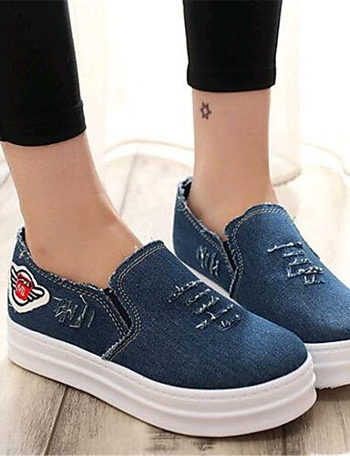 ZQ Damenschuhe-Halbschuhe-Outddor / L?ssig-Denim Jeans-Plateau-Creepers-Schwarz / Blau light blue-us5.5 / eu36 / uk3.5 / cn35