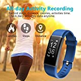 Lintelek Fitness Trackers GPS Tracker Smart Watch Activity Watch Pedometer Smart Bracelet Wristband With 24 Hour Heart Rate Monitor For Android And IOS Phones
