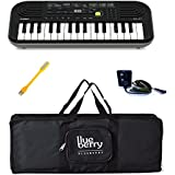 Casio SA-47 Mini Keyboard-32 Keys And Adapter with Blueberry Bag Along With One USB LED - Combo