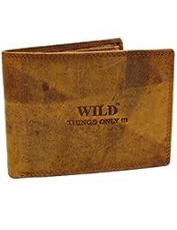 dec25f519e9e6 Rustikale Leder Geldbörse Wild Things Only Herren Geldbeutel Hand Made  Querformat Volleder