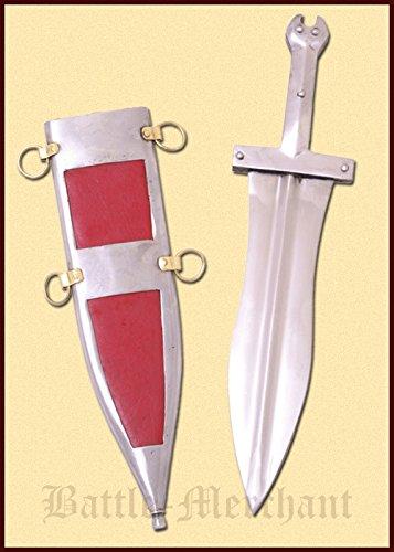 Battle-Merchant Pugio 'Künzing', spätrömischer Dolch, 3. Jahrhundert - Echt Metall Römer Replik Ab 18 Jahren -