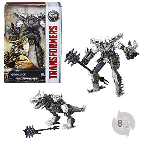 Transformers The Last Knight Premier Edition Voyager Class Grimlock Figure