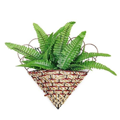 WINOMO Kunststoff-Farn Gras Blätter Pflanze für Zuhause Hochzeitsdekoration (grün)
