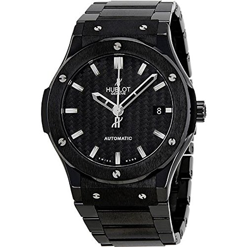 HUBLOT MEN'S CLASSIC FUSION 45MM CERAMIC BAND AUTOMATIC WATCH 511.CM.1770.CM