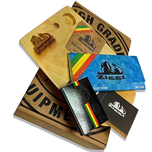 Ziggi de Papier à rouler en bois, coffret cadeau-Ensemble Earthwide-Matériel de haute qualité