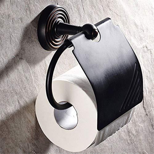 VHVCX Papierspender Wall Mounted Massivem Messing Rolle Tissue Halter Für Papier Handtuch Bad Zubehör Schwarz Toilettenpapierhalter - Massivem Messing Wall