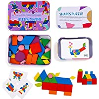 Toyshine Wooden Pattern Blocks Jigsaw Puzzle Sorting and Stacking Games Montessori Educational Toys for Toddlers Kids…
