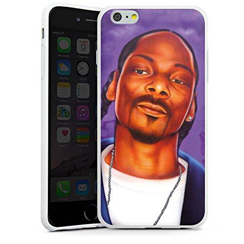 Apple iPhone 7 Hülle Case Handyhülle Snoop Dogg Rapper Hip-Hop Silikon Case weiß