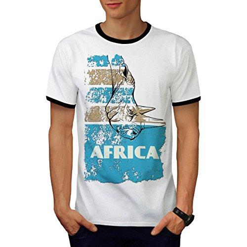 Dschungel Wüste Cool Afrika Land Leben Herren S Ringer T-shirt | Wellcoda (Süd-afrika T-shirt Flagge)