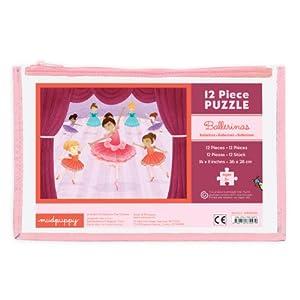 MudPuppy - Puzzle de 12 Piezas, diseño Bailarinas (MPBP39279)