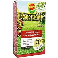 Compo floranid Cuidado del Césped–Abono Plus 3kg herbicida para 100m², Verde