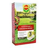 COMPO FLORANID Rasendünger plus Unkrautvernichter, 3 Monate Langzeitwirkung, Feingranulat, 3 kg, 100 m²