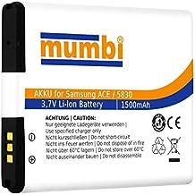 mumbi Batterie de remplacement pour Samsung Galaxy Ace S5830 S5830i / Gio S5660 / Fit S5670 / Wave M S7250 - 1500mAh Li-Ionen (import Allemagne)