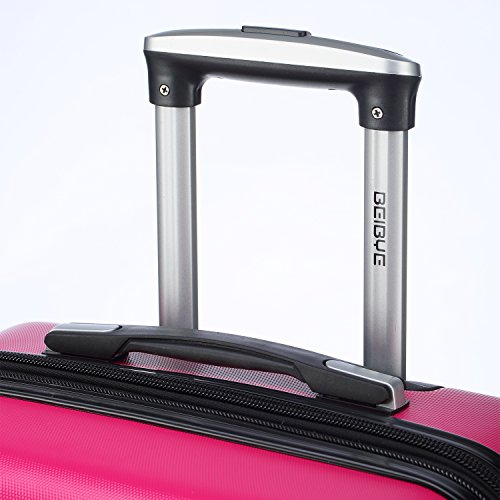 Zwillingsrollen 2066 Hartschale Trolley Koffer Reisekoffer Reisekoffer Gepäck M-L-XL-Set in 12 Farben Peach