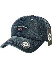 30db7e1d715 WITHMOONS Baseballmütze Mützen Caps Denim Baseball Cap Union Jack Patch  Simple Plain Jean Ball Cap For