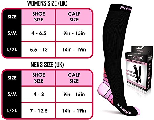 Compression Socks for Men & Women, BEST Graduated Athletic Fit for Running, Nurses, Shin Splints, Flight Travel, & Maternity Pregnancy. Boost Stamina, Circulation, & Recovery