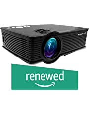 (Renewed) EGATE i9 LED HD Projector (Black) HD 1920 x 1080 - 120-inch Display