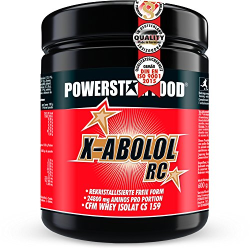 X-ABOLOL RC - ReCrystallized Free Form Amino Acids mit CFM Whey-Isolat & InsulAct als Pre-, In- & Post-workout Getränk - Bitter Orange - 600g Pulver - MADE IN GERMANY