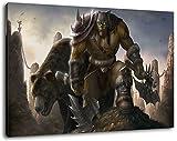 World of Warcraft Format 100x70 cm Bild auf Leinwand, XXL riesige Bilder fertig gerahmt mit Keilrahmen, Kunstdruck auf Wandbild mit Rahmen