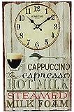 Widdop Bingham Hometime Glass Wall Clock Oblong 40cm x 25cm - Cappuccino