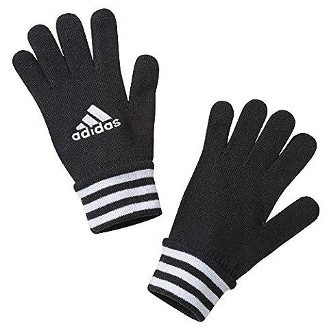 adidas Paire de gants de football pour homme Noir Noir/Blanc Large