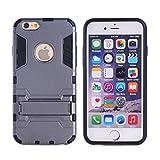"""Coque iPhone 5s,Coque iPhone Se SsHhUu Stoßsichere Dual Layer Hybrid Tasche Schutzhülle mit Ständer für Apple iPhone 5 / 5S / Se (4.0"""") Gris"""