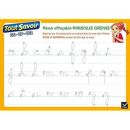 Mémo effaçable Lettres cursives
