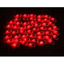 Generic 50Pcs Kugel-Form LED Luftballon Ballon Lampen Geburtstags Party Dekor Licht - Rot