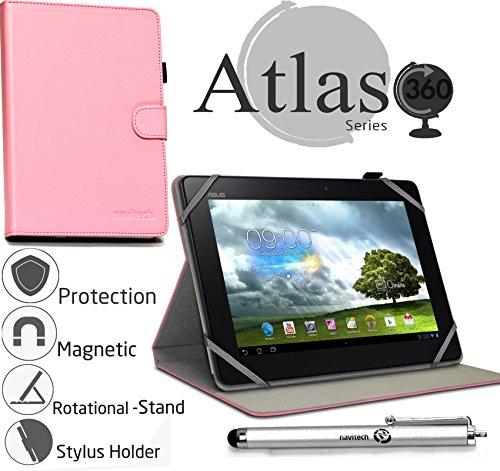 Navitech 10 Zoll pinkes Case / Cover mit 360 Rotierbare Stand Funktion und Stylus Pen für das Samsung Galaxy Tab S 10.5 (Samsung Galaxy Tab S Cover 10)