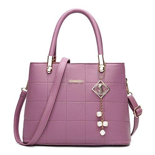 DonnaBangalor Nuovo Spiraea PU Europa E Stati Uniti Borse Moda Cartella Inviare Pendente Borsa Purple