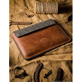 NEW 2020 iPad Pro 12.9 inch, iPad 10.2 Zoll Ledertasche/Hülle | Classic Brown, iPad Pro 11 Zoll, 100% Wollfilz, Apple, Vintage Crazy Horse Leder Tablettständer iPad Air 10.5 Cover, Crazy Horse Craft