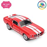 Smiles Creation Kinsmart 1:38 Scale 1967 Shelby Gt-500 Classic Pull Back Car Toys (5-inch)