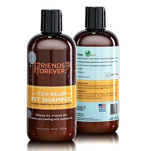 Französisch-shampoo (Unbekannt Friends Forever Hundeshampoo für trockene juckende Haut - Haferflocken-Aloe Vera Haustier-Shampoo für Hunde, mit Leinsamen-Teebaum und Lavendelöl)