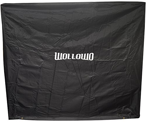 Wollowo Full Size Table Tennis/Ping Pong Table Cover Indoor/Outdoor Black