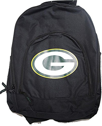 Forever Collectibles NFL Green Bay Packers Back To School Backpack Black Bag Rucksack Tasche -