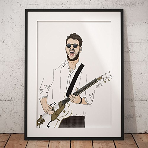 Liam Fray A3 Print / The Courteeners Poster / The Courteeners Artwork / Manchester Print / Manchester Music