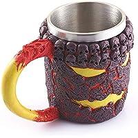 Preisvergleich für Igemy 3D Kaffee Tasse Harz Krug Viking Skull Double Wall Weihnachten Cup (Mehrfarbig)