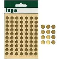 Ivy 232690 - Pegatinas con forma de círculo (8mm), color dorado
