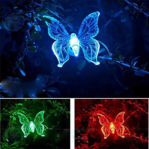 Farbwechsel Led Solar Garten Stake Lights, 3er Pack Dragonfly Butterfly & Hummingbird Solar Garden, FüR Outdoor/Garten/Terrasse/Weihnachten -