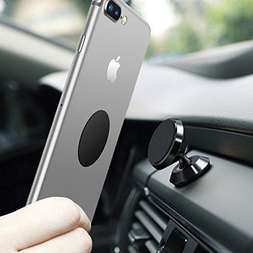 Universal Handyhalterung Auto Magnet, LURICO 360 °Einstellbare Smartphone Halterung Auto für iPhone X/8/8 Plus/7/7 Plus/6/6s, Samsung Galaxy S7 S8 S9 und Andere Smartphones - Schwarz -