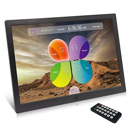 Digitaler Bilderrahmen, XYmart 15.4 Zoll Digitaler Bilderrahmen 1280 x 800 Hohe Auflösung Einzigartige UI Oberfläche Original HD Bildschirm Multifunktionaler Digitaler Bilderrahmen