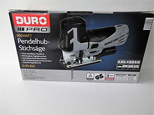 Preisvergleich Produktbild Stichsäge -Pendelhub DURO PRO / D-PS 850 mit Zübehör Neu